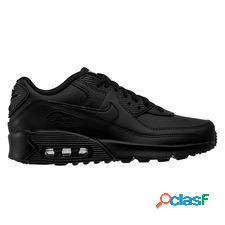 Nike air max 90 cuir - noir/blanc enfant