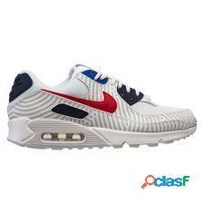 Nike air max 90 - blanc/rouge/bleu marine