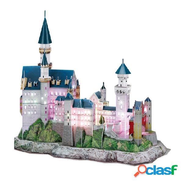 Puzzle 3d avec led - château de neuschwanstein - difficulté 6/8