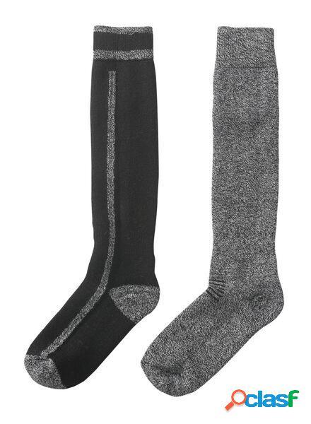 Hema 2 paires de chaussettes de ski homme noir (noir)