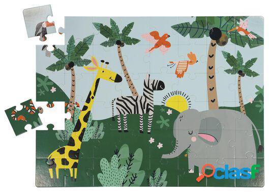 Hema puzzle de sol 80x60 animaux - 48 pièces