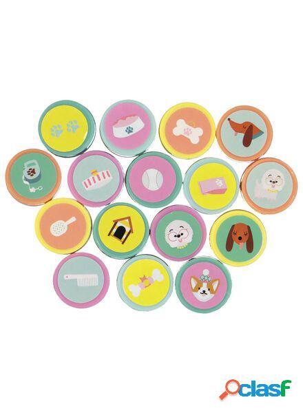 Hema lot de 16 étiquettes chiens