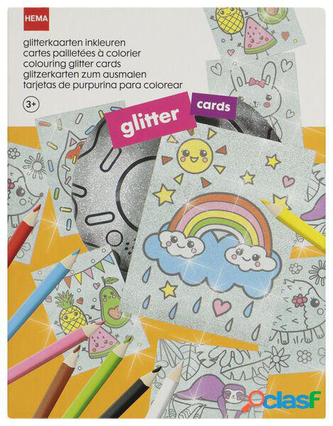 Hema cartes à paillettes à colorier - kit de bricolage