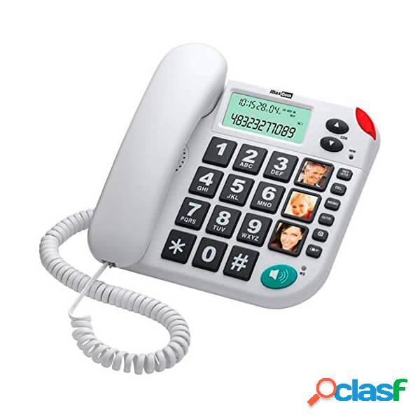 Maxcom kxt480 téléphone fixe blanc (white)