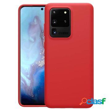 Coque samsung galaxy s20 ultra en silicone nillkin flex pure - rouge