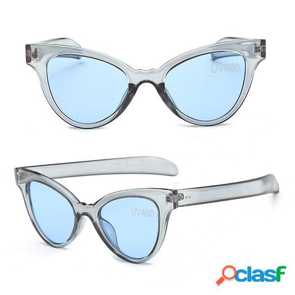 Lunettes de soleil fashion femme effet yeux de chat verres de sport décontractées colorées anti-uv