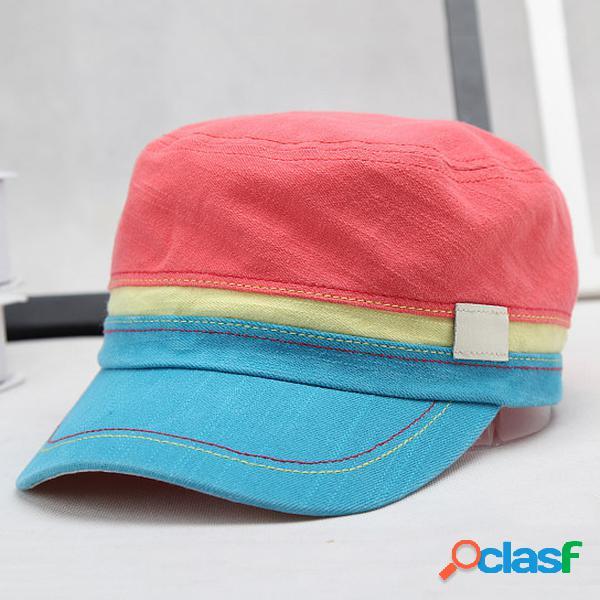 Casquette militaire masculine en coton colorful outdoor casual chapeau respirant de protection solaire
