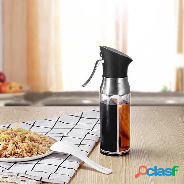 Bouteille d'assaisonnement étanche à l'huile de dosage de roulette d'huile d'assaisonnement pour pulvérisateur réglable anti-poussière