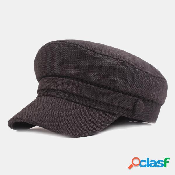 Casquette coton et marine casquette plate casquette militaire rétro littéraire