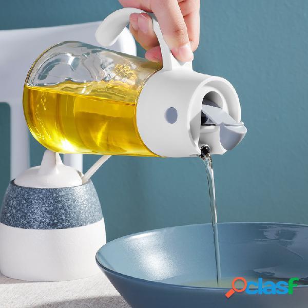 Bouteille de rangement en verre d'assaisonnement de cuisine bouteille de vinaigre d'huile de grande capacité étanche à la poussière et à la poussière