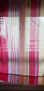 2 paires de rideaux jaune/rouge 2m20 x 1m45