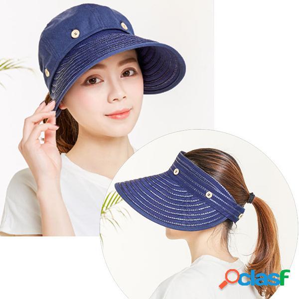 Chapeaux larges de soleil de bord supérieur démontables de conduite respirante réglable chapeaux extérieurs uv de chapeaux