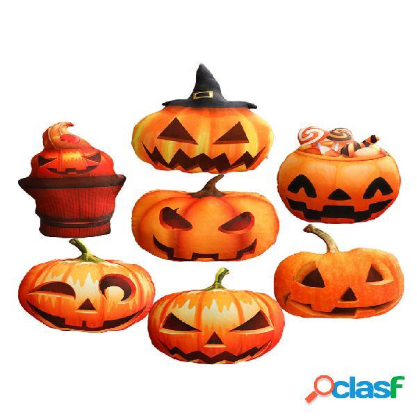 Led halloween citrouille coussin oreiller maison décoratif enfant cadeau soft pp coton peluche