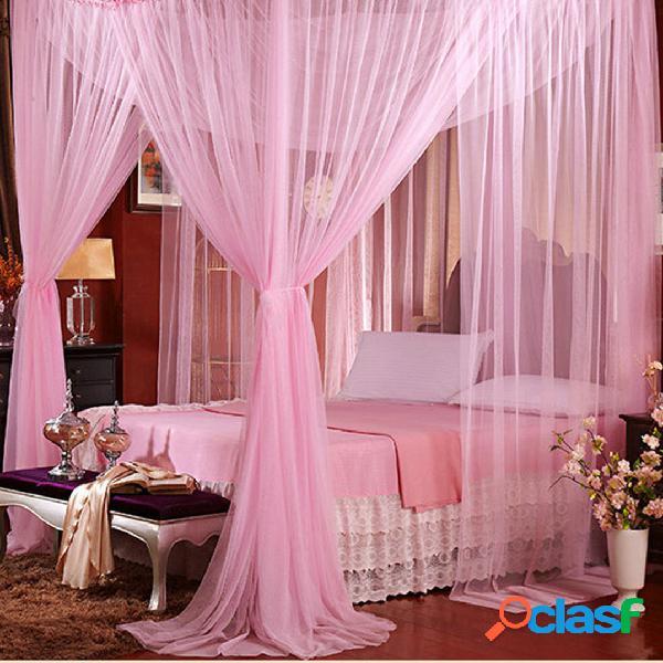 190x210x240cm literie à quatre portes moustiquaire lit queen anti-moustique été polyester maille tissu