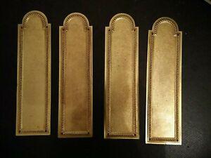 4 plaques propreté bronze doré poignée porte serrure