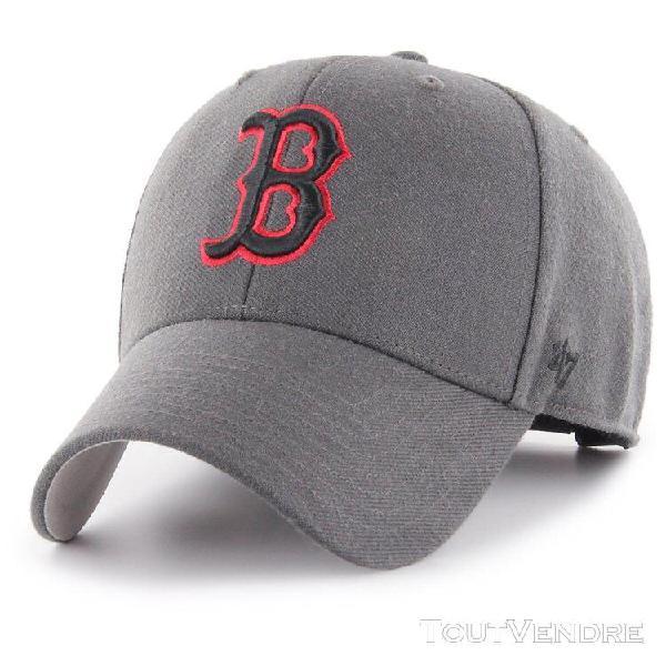 47 brand adjustable cap - mvp boston red sox charcoal