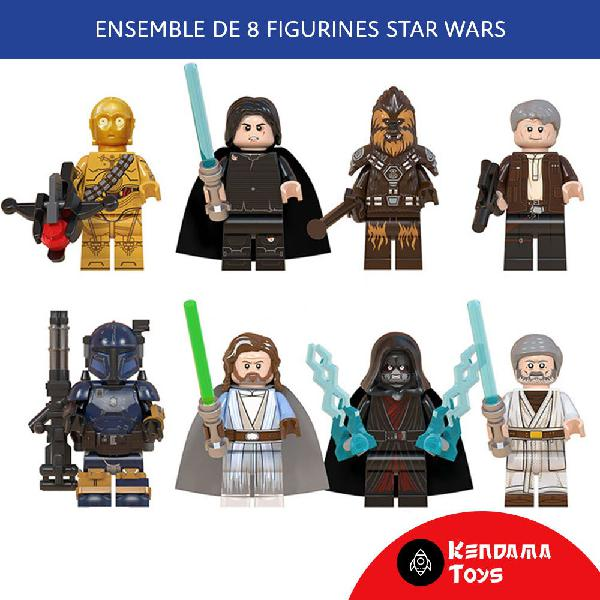ensemble de 8 figurines type lego star wars