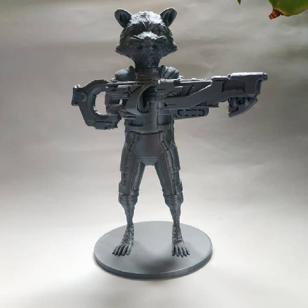 figurine impression 3d rocket raccon