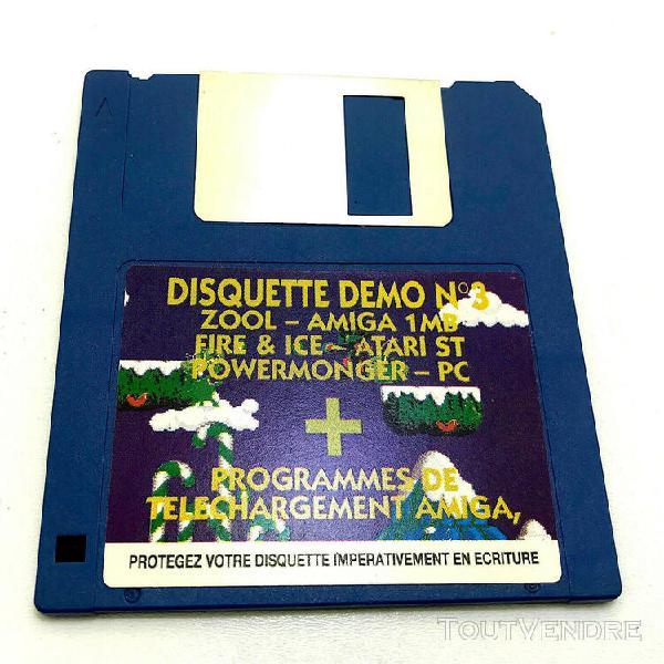 Jeux video ancien atari disquette demo + telechargement amig