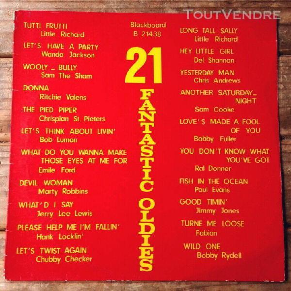21 fantastic oldies-lp holl-little richard-sam cooke-wanda j