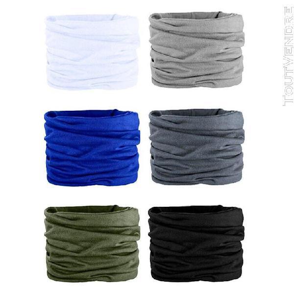 6 pièces sports de plein air hommes femmes turban écharpe