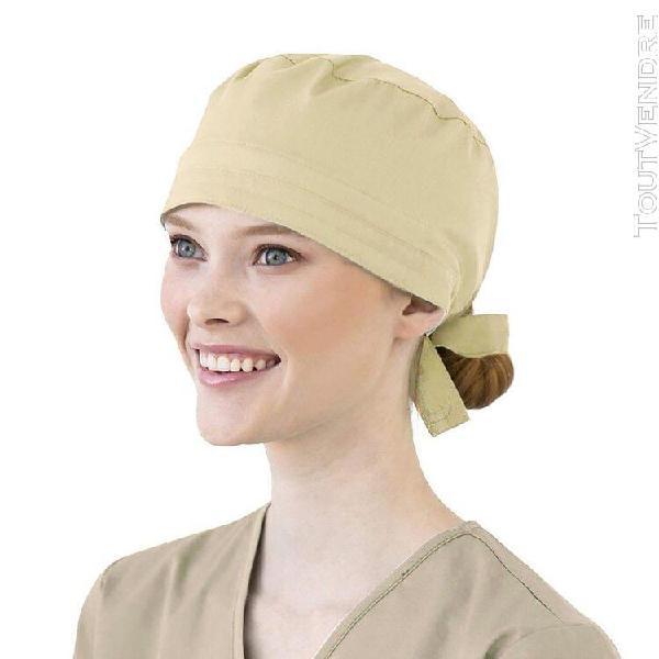 Femmes coton bandage réglable scrub cap sweatband bouffant