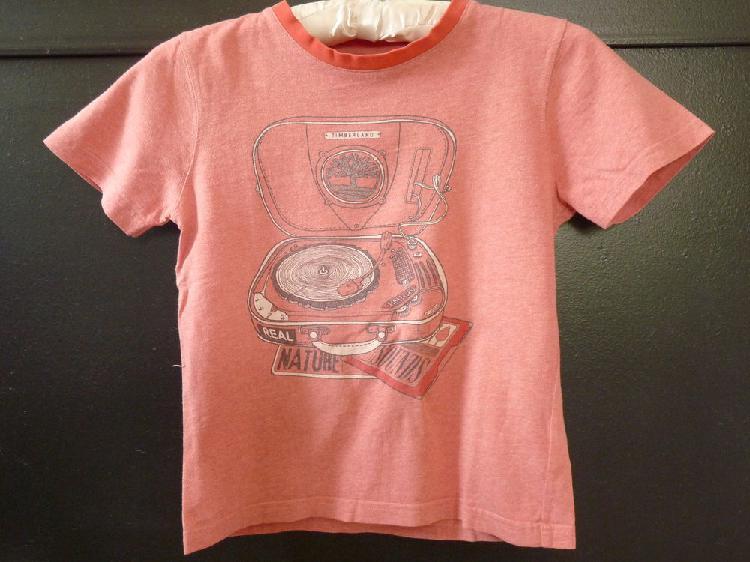 T-shirt timberland rouge 8 ans tbe garçon occasion,