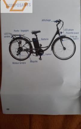 Vélo à assistance électrique solar moovway...