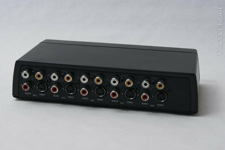 Switch audio vidéo commutateur sélecteur 4 entrées 1