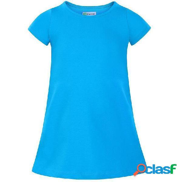 Robe unie fille - rose ou bleue - 1-2 ans, bleu