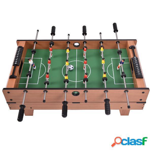 Costway table de jeux multifonction 4 en 1 football hockey sur glace tennis de table et billard en bois 81 5 x 43 x 24 cm
