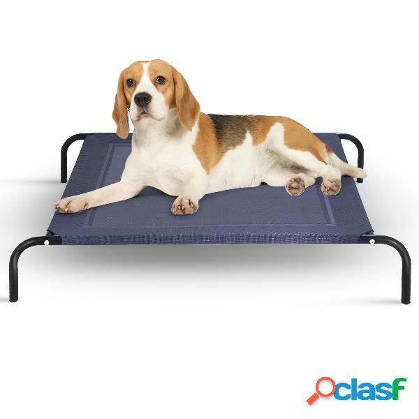 Costway lit de chien elevé berceau de chien 110x80x18cm capacité 40kg