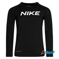 Nike pro maillot d'entraînement - noir/blanc enfant