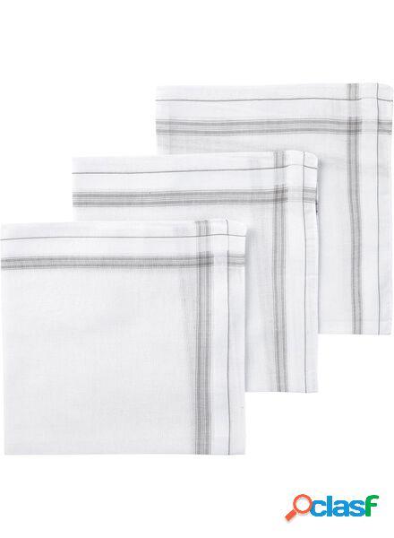 Hema 3 mouchoirs à rayures (gris)