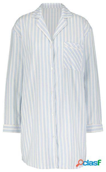 Hema chemise de nuit femme flanelle bleu clair (bleu clair)