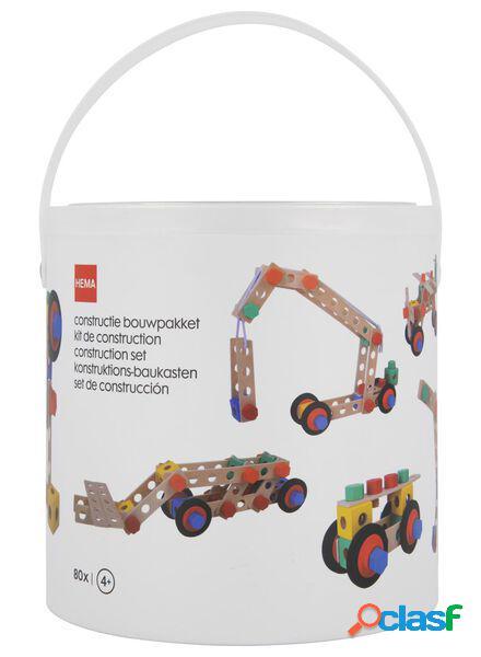 Hema kit de construction en bois - 80 pièces