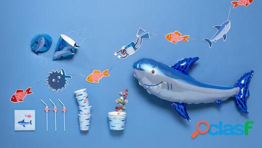 Hema guirlande alu - bleu - 3.5 mètres