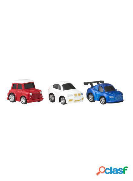 Hema lot de trois voitures de course en métal