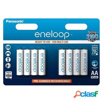 Piles aaa rechargeables panasonic eneloop bk-4mcce/8be - 750mah - 1x8