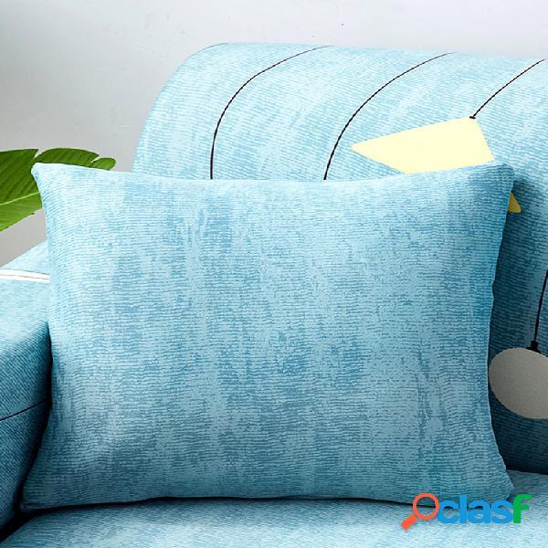 Moderne simple géométrique coton tissu taie d'oreiller maison canapé bureau soft taille housse de coussin