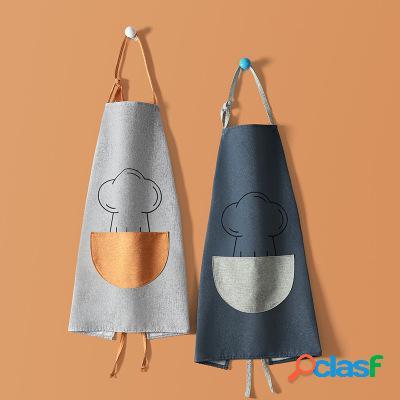 Multifonction étanche tablier de cuisine sans manches coton lin linge de cuisson tissu de travail pour la cuisine à domicile outil de travail outil