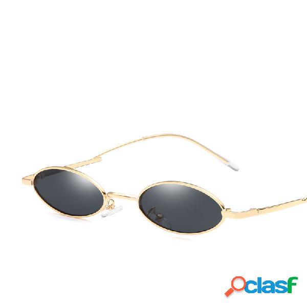 Lunettes de soleil vintage pour femme de forme ovale uv400 lunettes de soleil avec monture en métal lunettes de soleil pour la plage