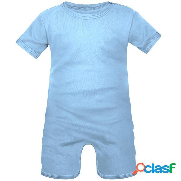 Barboteuse bébé à personnaliser - 0-1 mois bleu