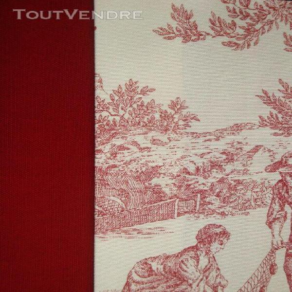 1 à 5 - housse coussin carré - campagne chic - toile jouy