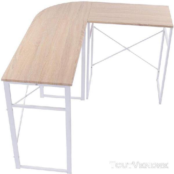 Bureau informatique en forme l table en panneau de particule