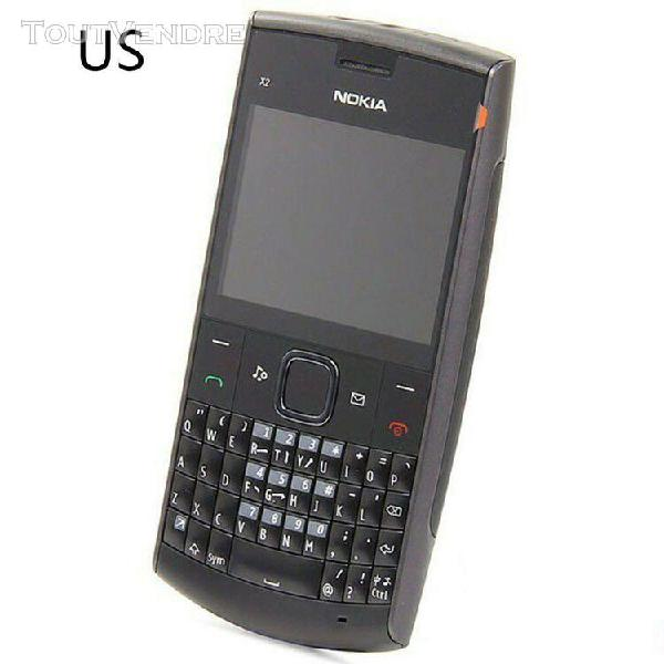 Téléphone portable pour nokia x2-01 clavier complet métal