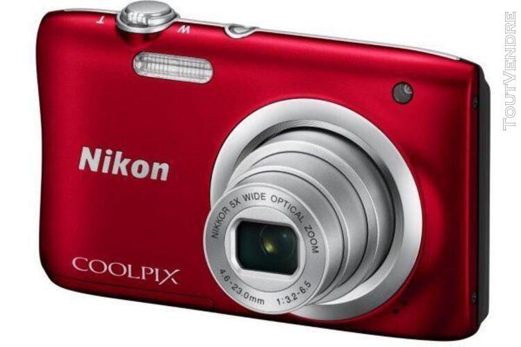 Appareil photo numérique nikon coolpix a100 rouge