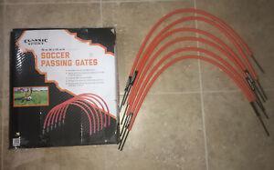 "Classic sports soccer passing gates~ 6 orange ~ 18""x 14"""