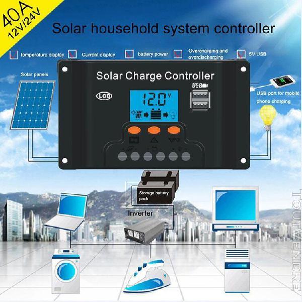 Contrôleur de charge de régulateur de panneau solaire led