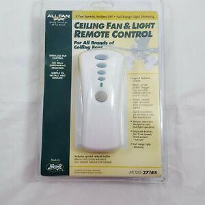 New open box hunter allfan ceiling fan & light universal
